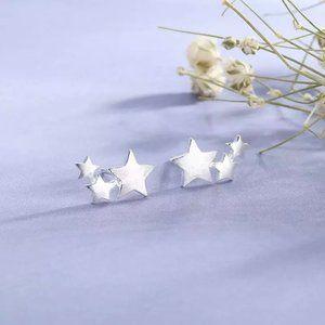925 Minimalist Star Earrings